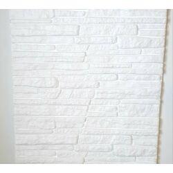 """3D Kőhatású burkoló """"rock"""" fehér (0,52 m2)"""
