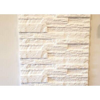 """3D Kőhatású burkoló """"stone"""" fehér (0,52 m2)"""