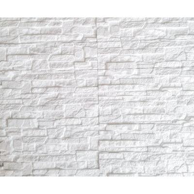 """3D Kőhatású burkoló """"szikla"""" fehér (1 m2)"""