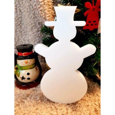 Karácsonyi dekoráció - hóember