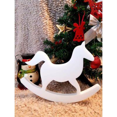 Karácsonyi dekoráció - hintaló