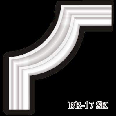 BR-17 SK sarokelem - Beltéri polisztirol dísz