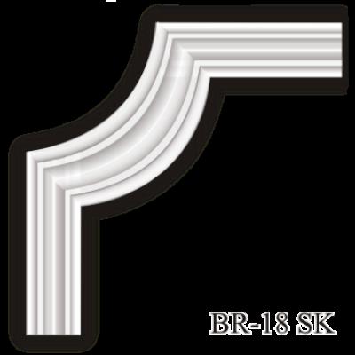BR-18 SK sarokelem - Beltéri polisztirol dísz