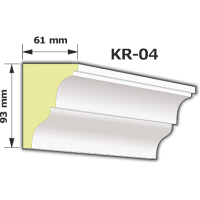 KR-04 Kültéri díszléc (125cm)
