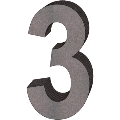 """""""3"""" önálló házszám"""