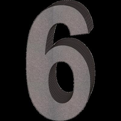 """""""6"""" önálló házszám"""